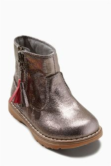 Tassel Zip Ankle Boots (Younger Girls)