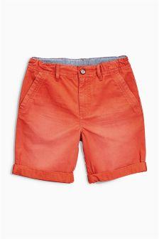 Orange Chino Shorts (3-16yrs)