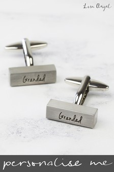 Personalised Brushed Bar Cufflinks By Lisa Angel