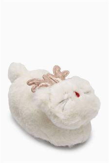 Christmas Cat Slippers (Younger Girls)