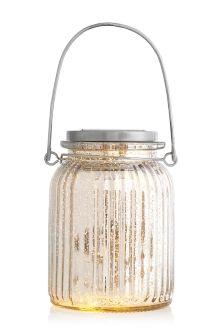 Solar Mercury Effect Glass Lantern