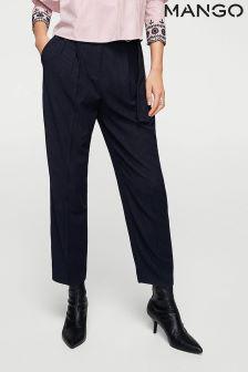 Mango Navy Pinstripe Trouser