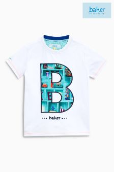 Baker By Ted Baker White Graphic Tee