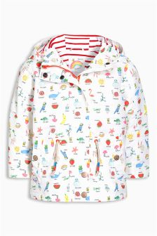 Ecru Conversational Print Technical Jacket (3mths-6yrs)