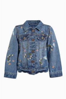 Floral Embroidered Denim Jacket (3mths-6yrs)
