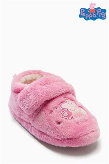 Pink Peppa Pig Slippers (Younger Girls)