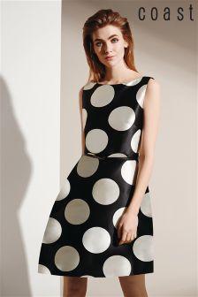 Coast Milana-May Spot Print Fit And Flare Dress
