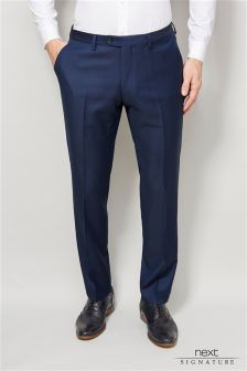 Signature Bright Blue Slim Fit Suit: Trousers