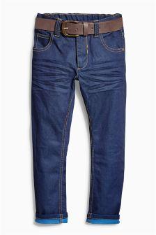 Dark Blue Regular Belted Jeans (3-16yrs)