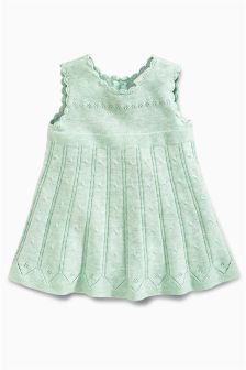 Mint Knitted Dress (0mths-2yrs)