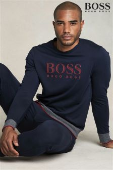 Boss Hugo Boss Navy Logo Long Sleeve Crew