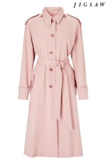 Jigsaw Pink Detachable Collar Mac