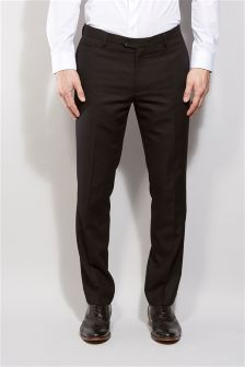 Check Tuxedo Slim Fit Suit: Trousers