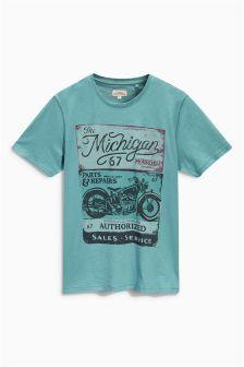 Teal Michigan Motor T-Shirt