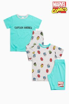 Avengers Short Pyjamas Two Pack (3-12yrs)