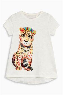 Longline Leopard T-Shirt (3mths-6yrs)