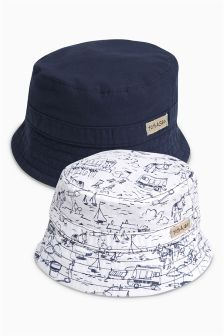 Navy Fisherman's Hat Two Pack (0mths-2yrs)