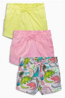 Lime/Pink/Print Shorts Three Pack (3mths-6yrs)