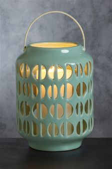 Ceramic Cut-Out Lantern