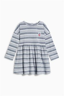 Ecru/Navy Stripe Tunic (3mths-6yrs)