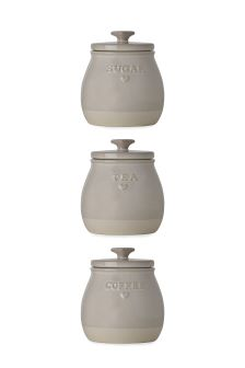 Set Of 3 Storage Jars