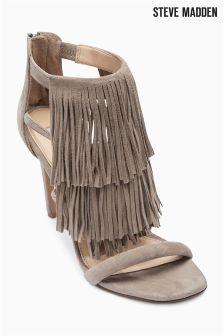 Taupe Steve Madden Fringe Heel Sandal