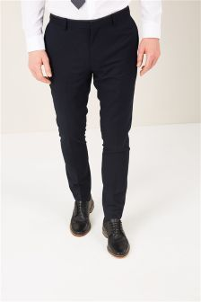 Puppytooth Tipped Slim Fit Suit: Trousers