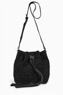 Suede Duffle Bag