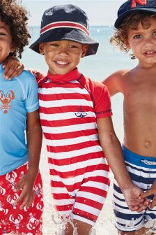 Red Stripe Sunsafe Suit (3mths-6yrs)