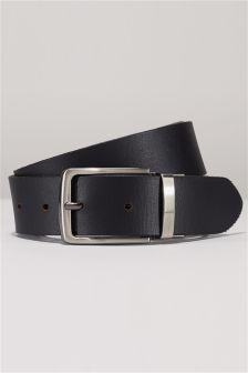 Black/Brown Leather Reversible Belt