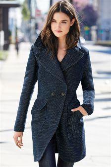 Denim Double Breasted Coat