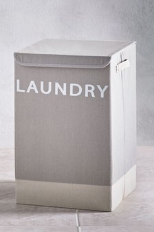 Grey Fabric Laundry Bin