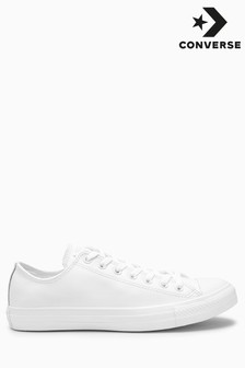 White Converse Leather Chuck Ox