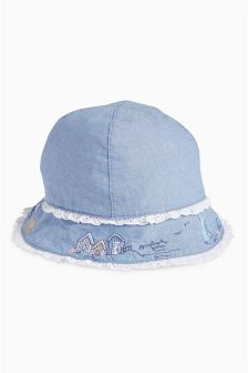 Blue Hat with Embellishment (0mths-2yrs)