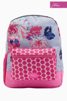 Joules Blue Posy Stripe Backpack