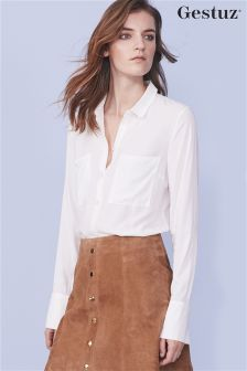 White Gestuz Pocket Shirt