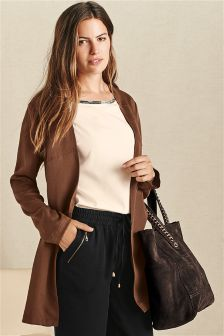 Brown Belted Utility Jacket