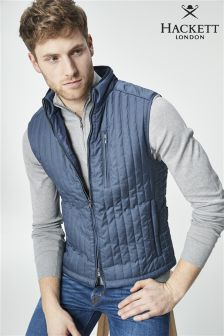 Hackett Navy Channel Gilet