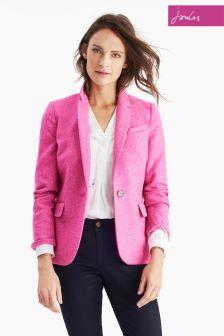 Joules Pink Horatia Tweed Blazer
