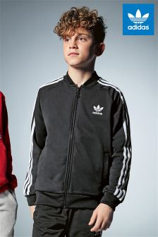 Black adidas Originals Superstar Track Jacket