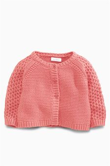 Coral Knitted Cardigan (0-18mths)
