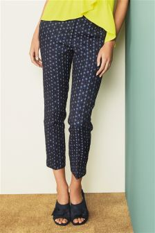 Textured Jacquard Skinny Trousers