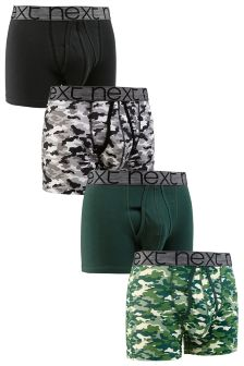 Camouflage A-Fronts Four Pack