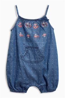 Embroidered Dungarees (0mths-2yrs)
