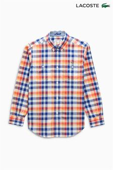 Lacoste® Red Check Shirt
