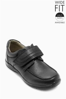 Premium Leather Single Strap Shoes (Older Boys)