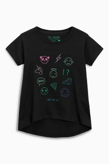 Icon T-Shirt With Metallic Fibre Embroidery (3-16yrs)