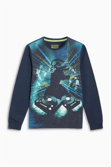 DJ Dino Long Sleeve Top (3-16yrs)