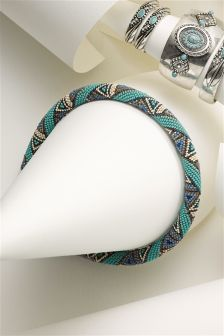 Turquoise Beady Necklace