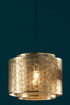 Zhara Laser Cut Brass Effect Easy Fit Pendant